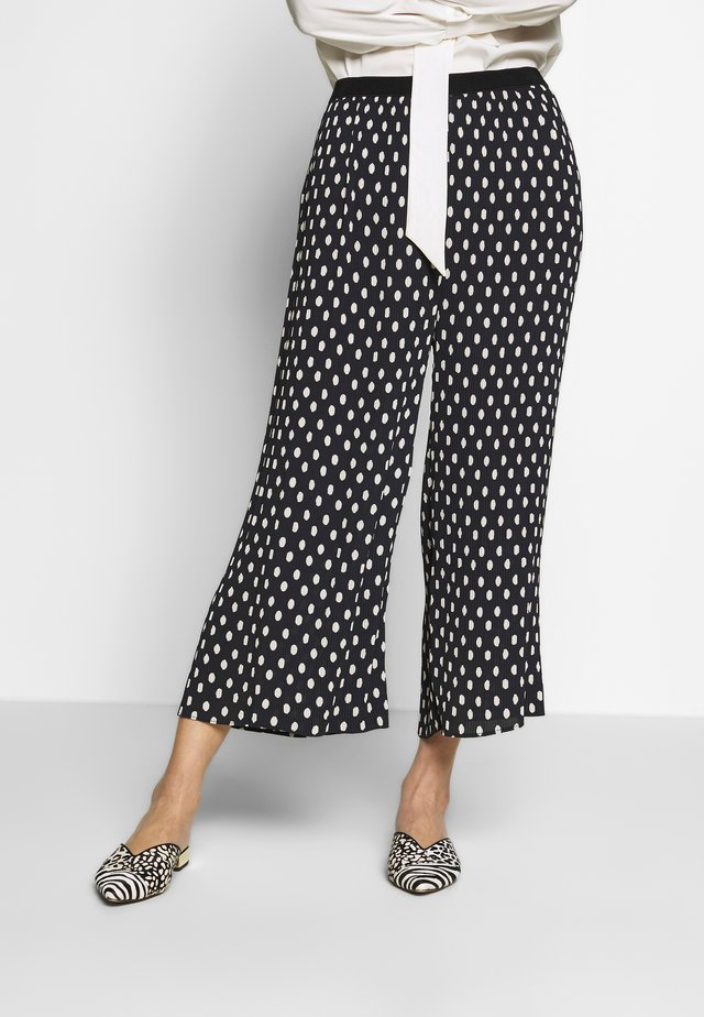 VALENE CROPPED - Trousers - dark navy