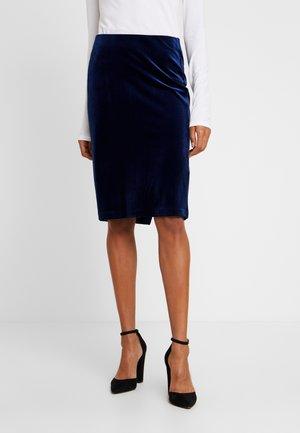 NAURA - Pencil skirt - medieval blue