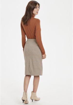Spódnica ołówkowa  - brown