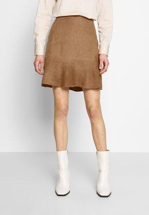 NABILA - A-line skirt - tannin