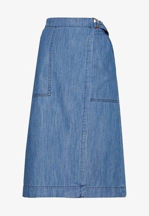 BLERINA - A-line skirt - light blue denim