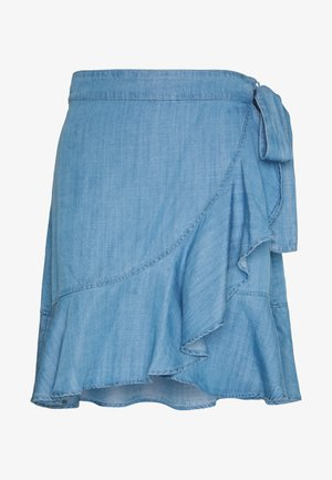CAITLYNE - A-lijn rok - light blue denim