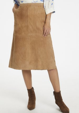 Leather skirt - tannin