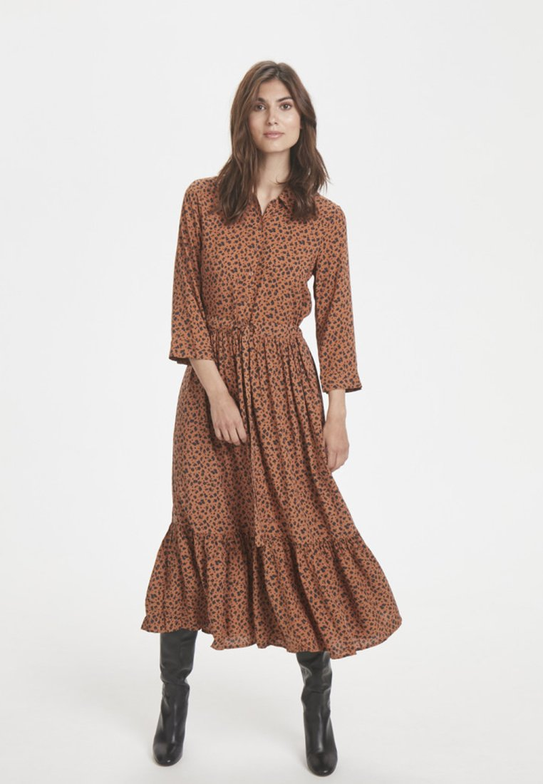 Part Two - TENNA DR - Blusenkleid - brown