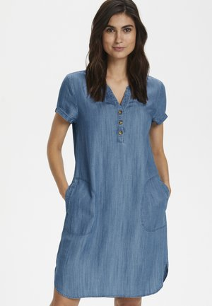 AMINASSPW - Denim dress - light blue denim