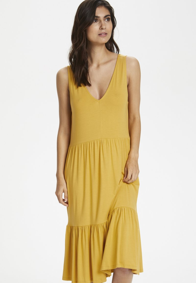 Part Two - CANAPW DR - Jersey dress - golden spice