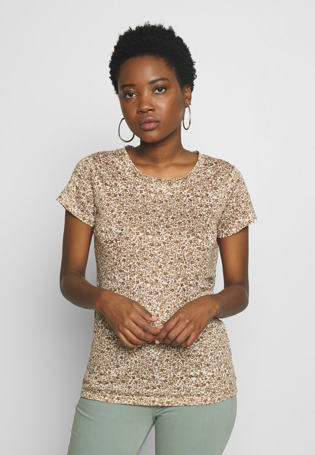 KASSIM - T-shirts med print - butternut brown