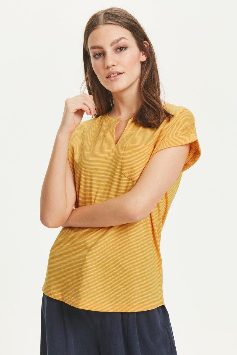 Part Two - KEDITA  - Basic T-shirt -  dark yellow