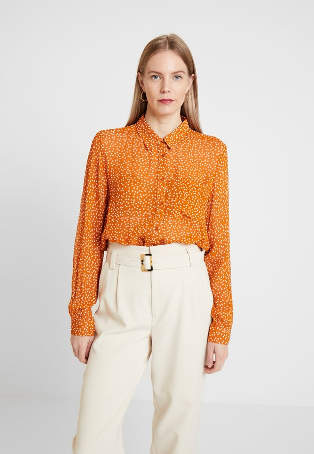 ABIA - Button-down blouse - pumpkin spice