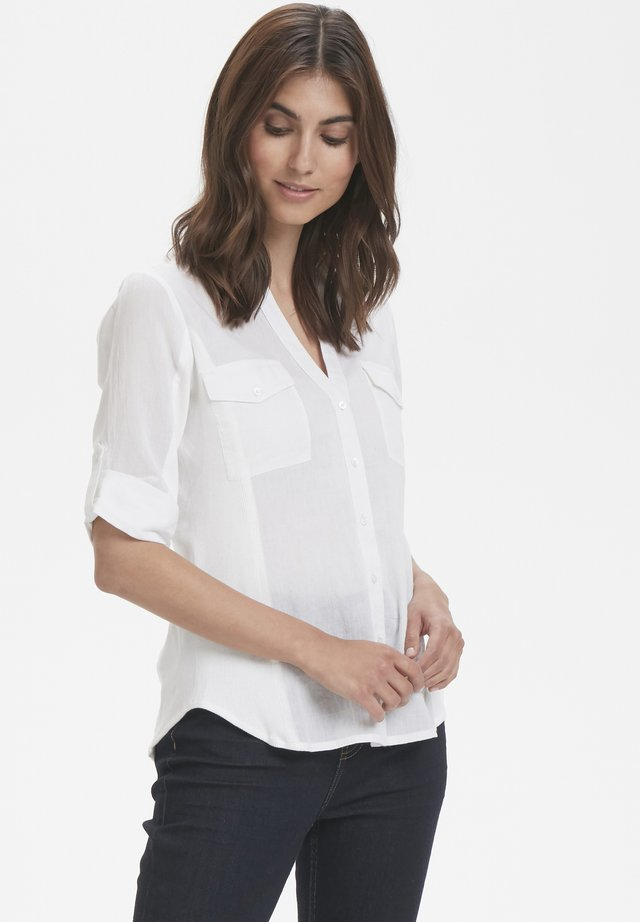 Button-down blouse - bright white