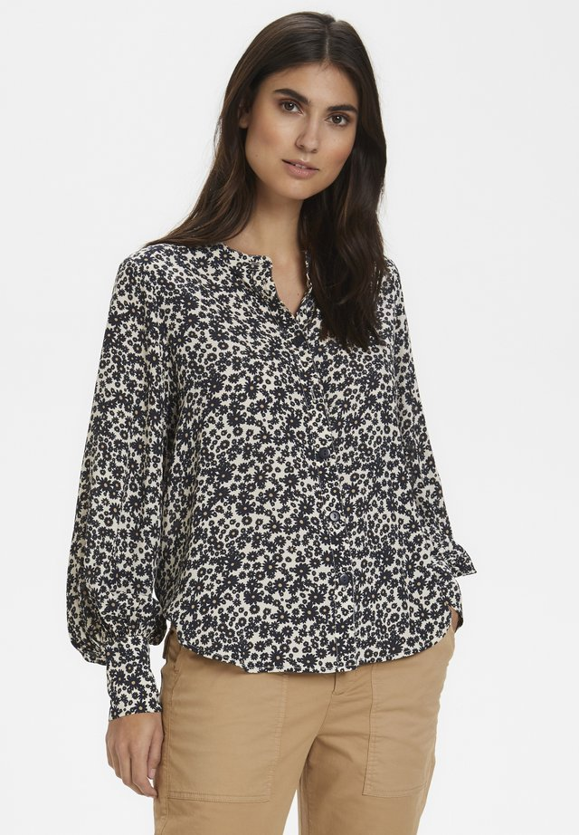 BARBETTEPW BL - Button-down blouse - dark navy