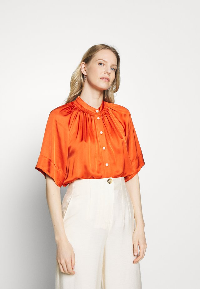 DORIA - Button-down blouse - orange sunset