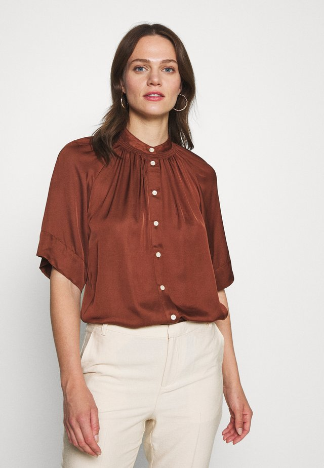 DORIA - Button-down blouse - chocolate glaze