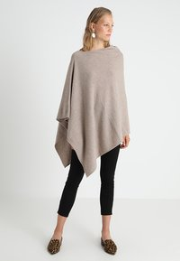 Part Two - KRISTANNA - Poncho - light camel melange - 0
