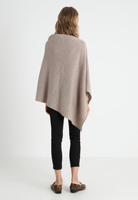 Part Two - KRISTANNA - Poncho - light camel melange - 2