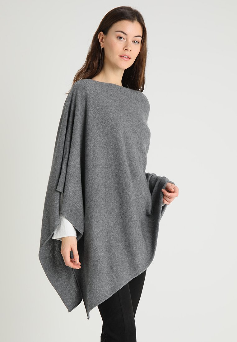 Part Two - KRISTANNA - Poncho - medium grey