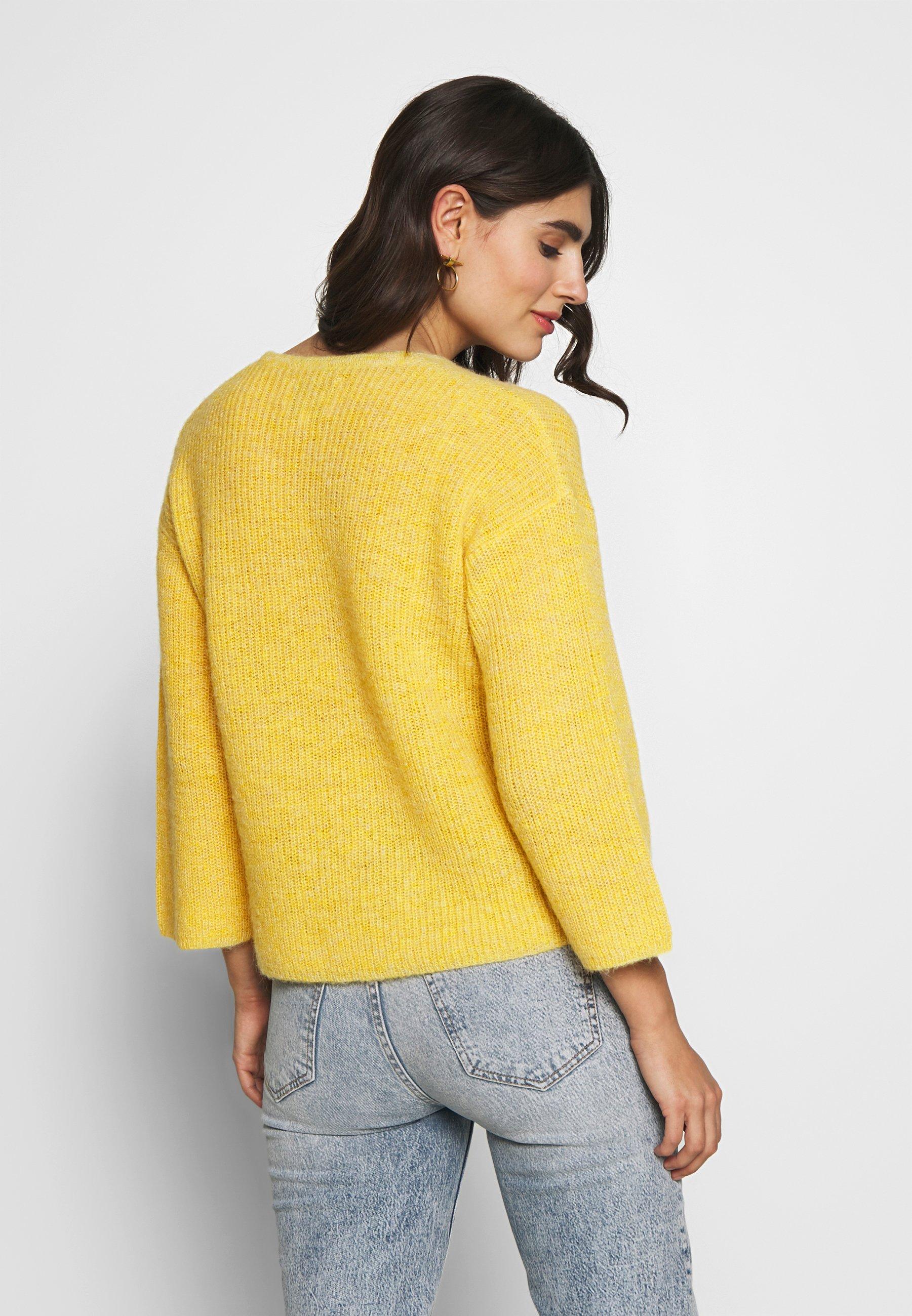 Part Two Blenda Pu - Pullover Yellow Melange