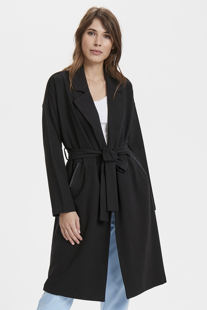 Part Two - OHANNA - Trenchcoat - black