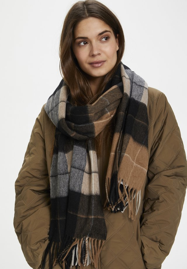 ECITAPW SC - Scarf - big brown check