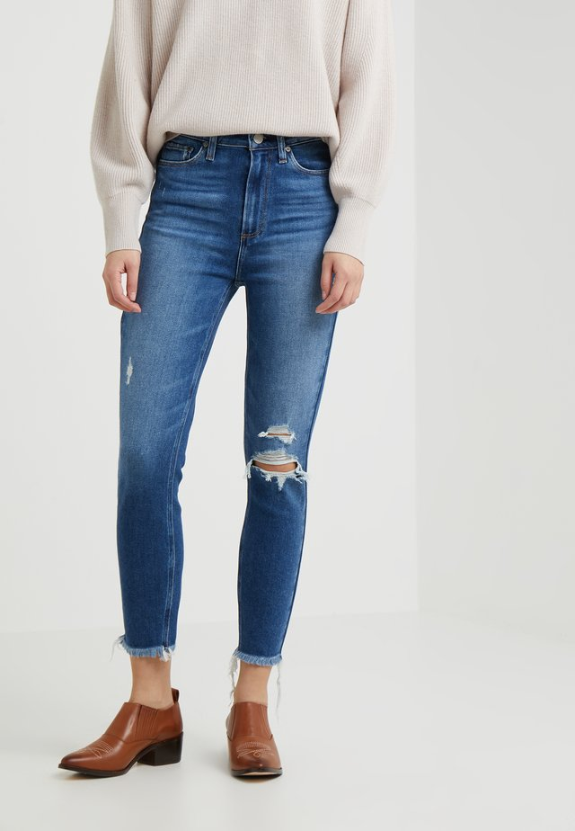 MARGOT CROP FRAY  - Jeans Skinny Fit - alessio destructed