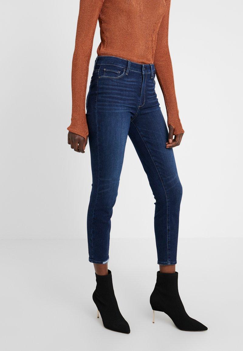 Paige - HOXTON CROP - Skinny džíny - dark-blue denim