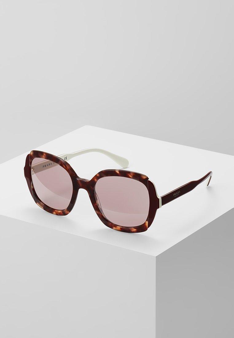 Prada - Sunglasses - pink havana/top bordeaux ivory