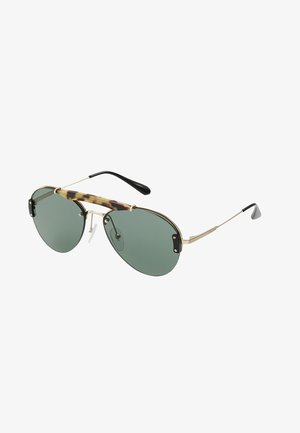 Sunglasses - medium havana/pale gold/light green