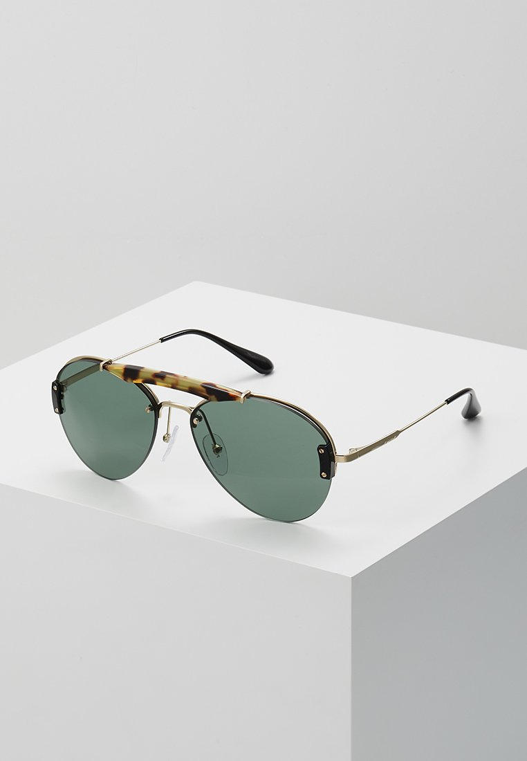 Prada - Sonnenbrille - medium havana/pale gold/light green