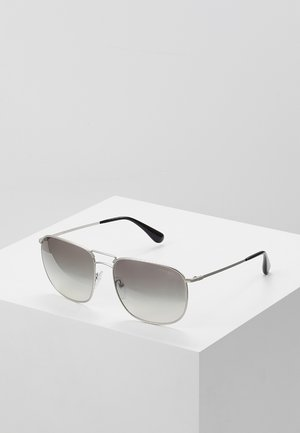 Solbriller - matte silver / gradient grey silver