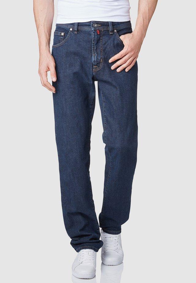 DIJON - Straight leg jeans - black change blue