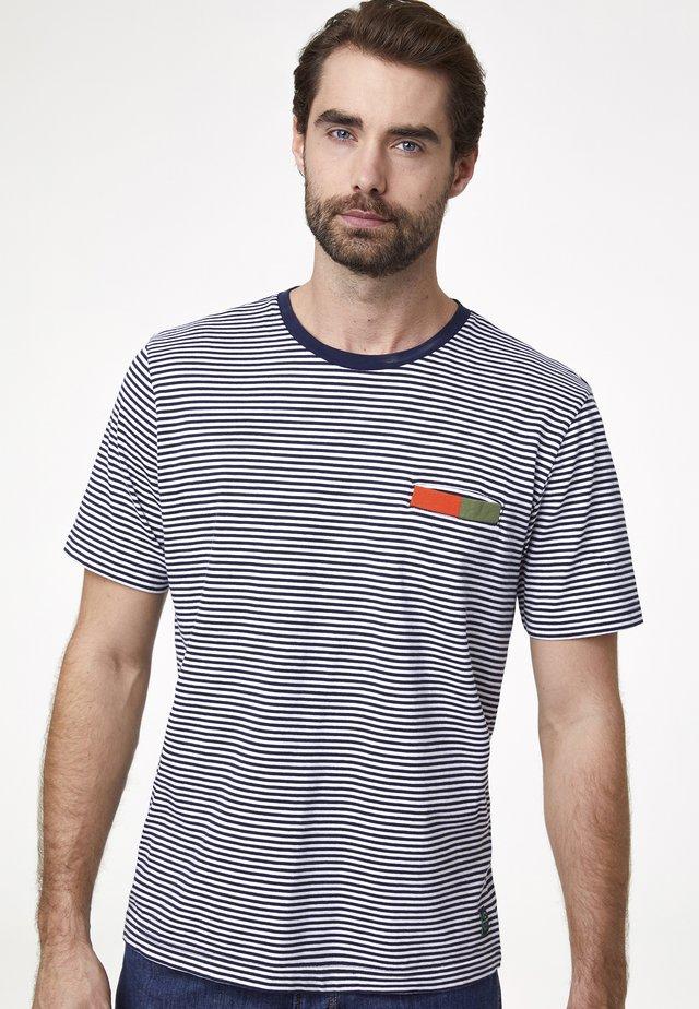 MIT STREIFEN - T-shirt imprimé - marine