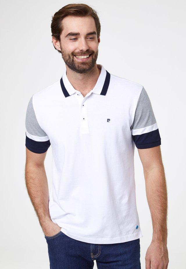 COLOR BLOCKING FUTUREFLEX - Polo shirt - white