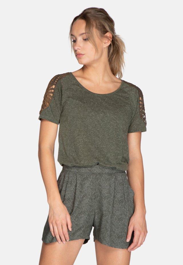 LEILA - T-shirt print -  grey