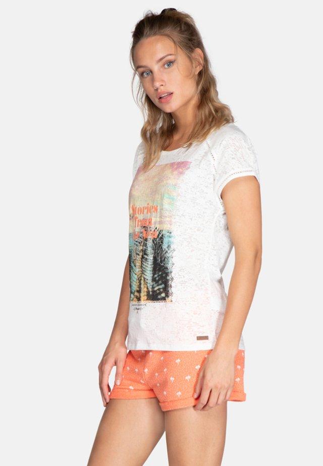 POSE - T-shirt print - off-white