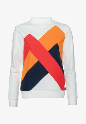 Sweatshirt - off-white/mottled orange/coral