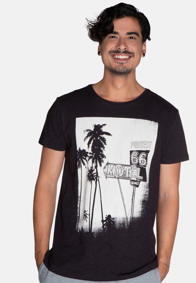 FARLOW - T-shirt print - black