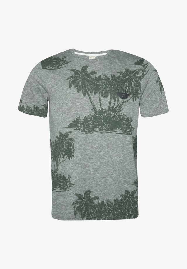 MANTON - T-shirt print - grey/green