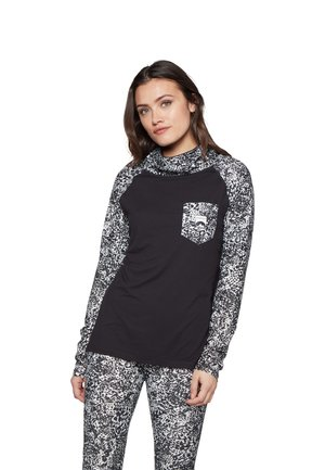 THERMO TOP - Long sleeved top - black/white