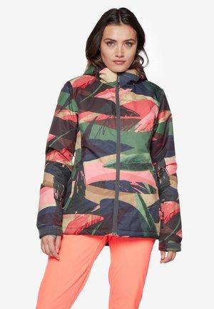 Snowboardjas - light brown/mottled dark green/dark green