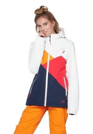 Snowboardjas - off-white/red/dark blue