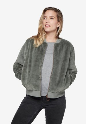Veste polaire - mottled dark green