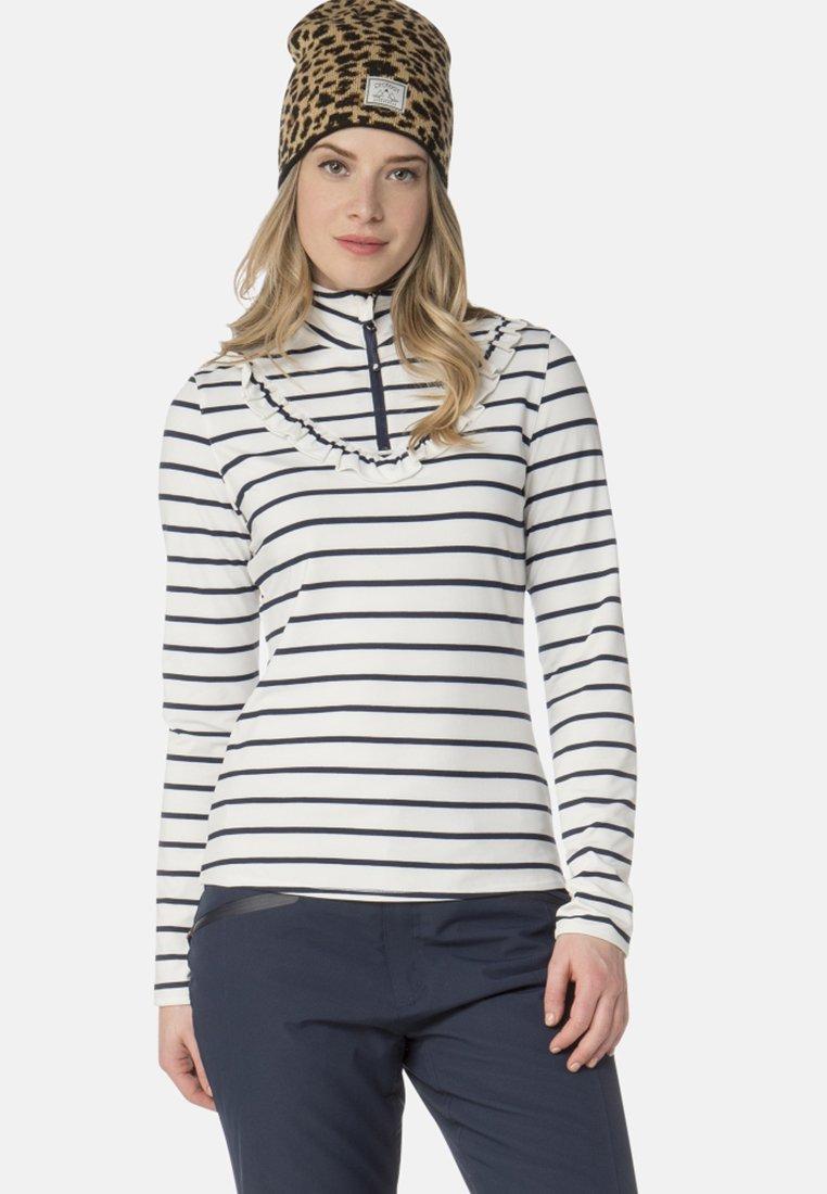 Protest - ROSCAL - Fleece jumper - off-white/dark blue