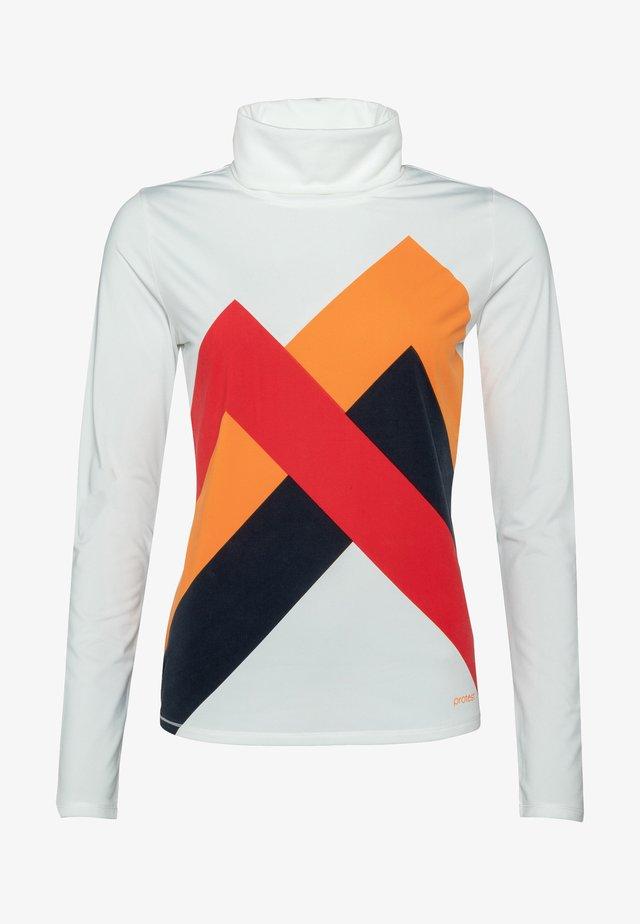 Sportshirt - off-white/mottled orange/coral