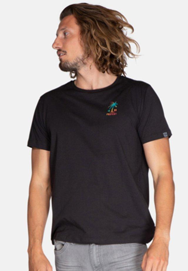 FOSTON - T-shirt print - true black