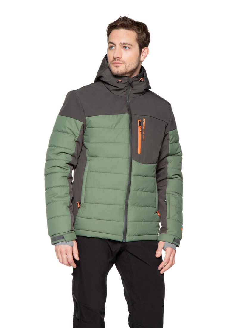 Protest - Snowboard jacket - mottled dark green