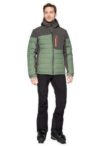 Protest - Snowboard jacket - mottled dark green - 1