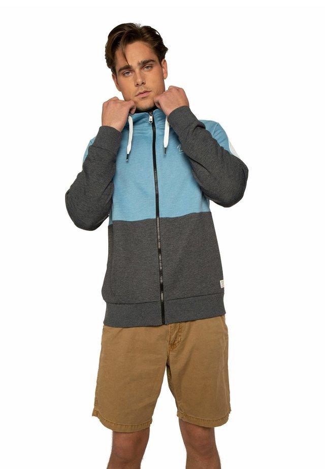 LAYTON - Hoodie met rits - blue mist