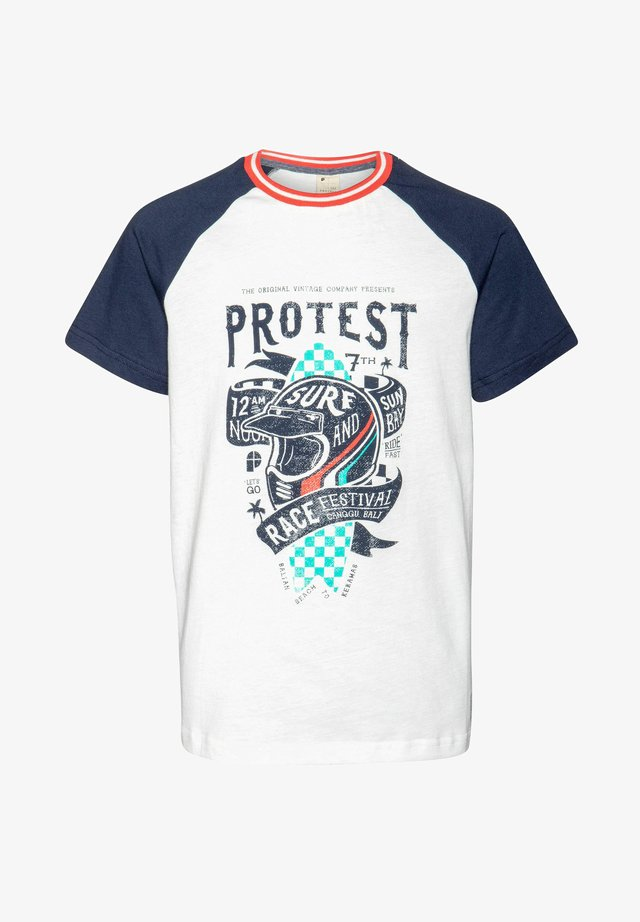 GUS JR - Print T-shirt - ground blue