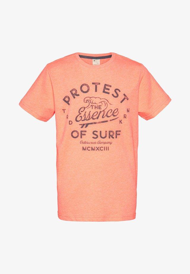 CHAZ  - Print T-shirt - orange fun