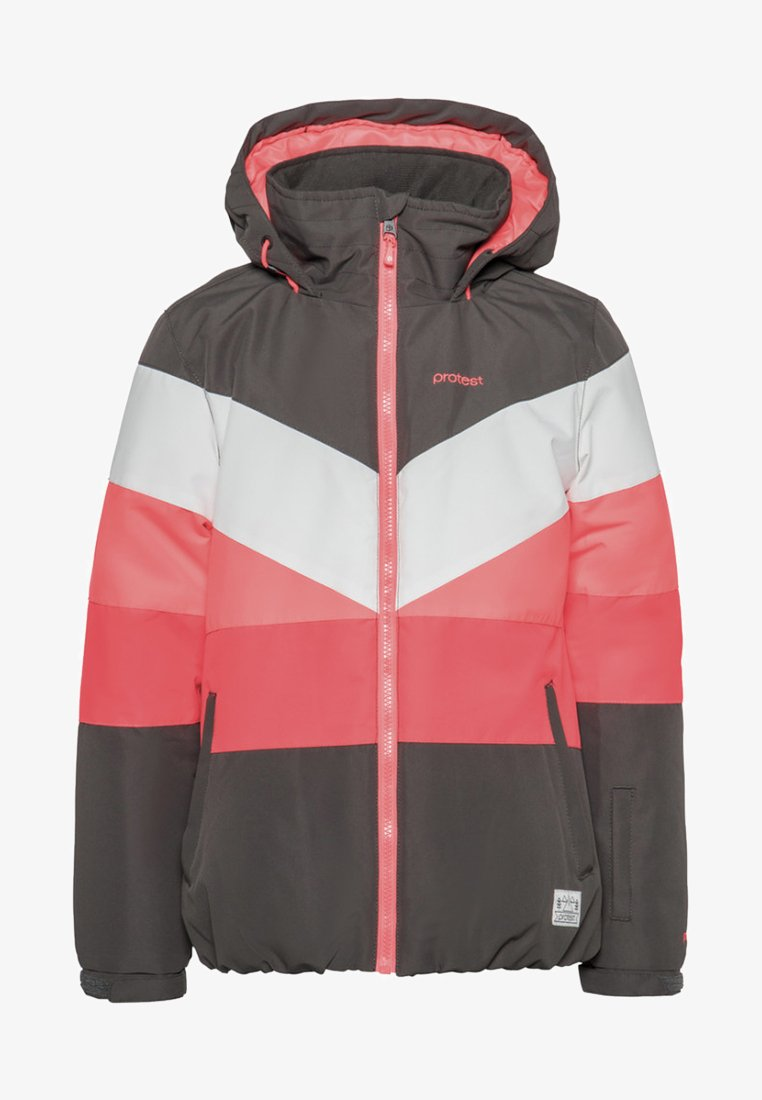Protest - Snowboard jacket - white/pink/coral